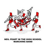 Neil Peart in the high school marching band by glenkamo