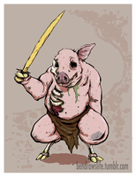 Zombie Pigman by bensigas