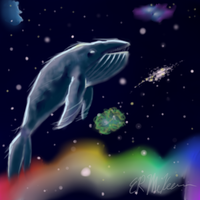 Space Whale by Rabid-Bunny-Slippers