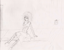 Sitting in the rain by death6loves6me6