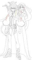 CotA Nex and Diffor - WIP (Lineart) by TaiKatsu05