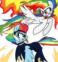 power rainbow dash vs super rainbow dash by nederside