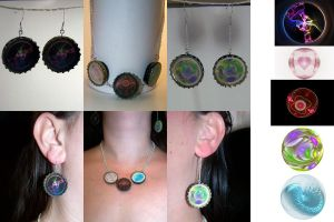 FatOW- Bottle Cap Jewelry Set by HippieKender