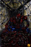 zombie spiderman original artwork col by darkartistdomain