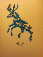 my tribal reindeer by 01whitewolf