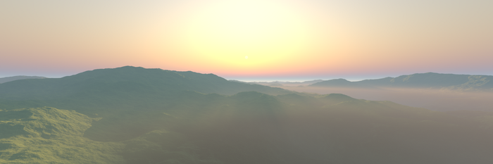 Calm Hills - Aerial View by phresnel