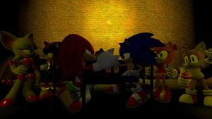 Sonic Vs. Knuckles - Arm Wrestling by Nictrain123