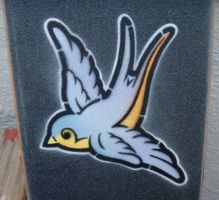 grip tape swallow stencil by matt136