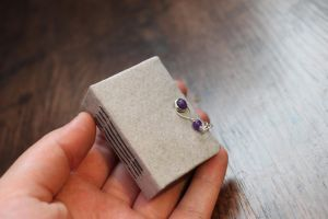 miniature book /with metal findings by izibel1