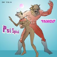 day 13 and 14 psi spiral and Fango by wildcats25
