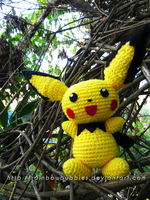 Life sized Pichu Amigurumi by Rainbowbubbles