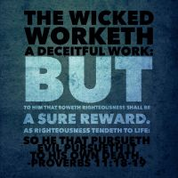 Proverbs 11:18-19 by BoughtbyBloodME