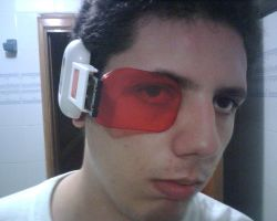 me with my saiyan scouter -red by Alucard4