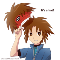 it's a hat by artist-black
