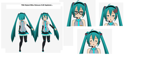 TDA styled miku new by Fukiyorev123