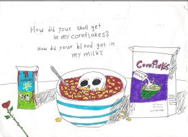 Skull in Cornflakes by Jaquina