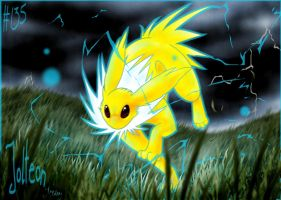 Jolteon by MadCookiefighter