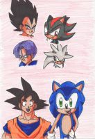 Sonic:DragonBall - Hedgehogs and Sayains by Piplup88908