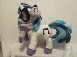 MLP Plushie Vinyl scratch Djpon3 plush by Little-Broy-Peep
