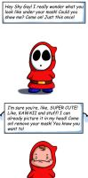 Shy Guy's face by TreasureFanboy
