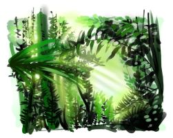 Rainforest study 02 by le-mec