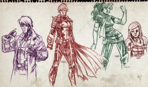 X-men characters sketches by dichiara