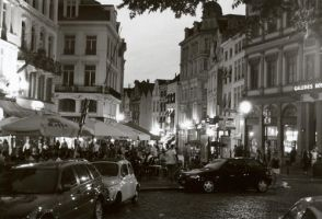 brussels at night by JackBrace