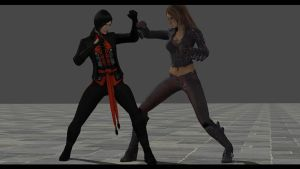 Catwoman and Talia vs Lady Shiva 1 by White777789