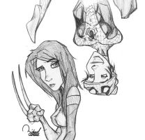 X-23 and Spider-Girl by ramova