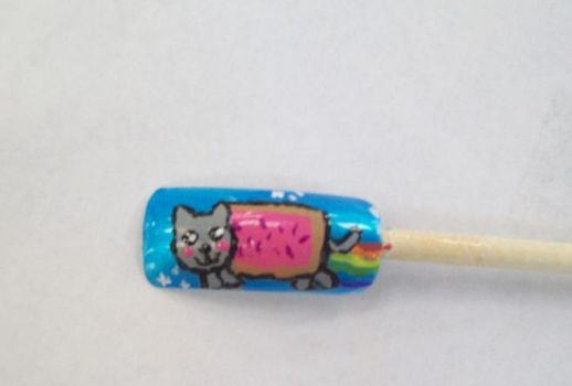 Nyan Nail Art by Scoobygirl17