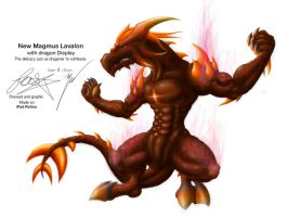 New Magmus Lavalon with dragon Display by thefastzza