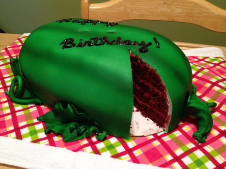 Watermelon Cake Cut by MandysCakesNCandies