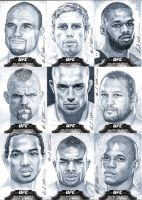 Topps UFC Bloodlines cool gray sketch cards #1 by therealbradu