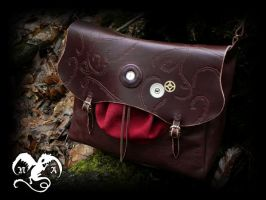 Bag with gears and brambles by Noir-Azur