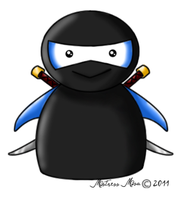 Jimmy The Ninja Penguin by Stormweaver-Arts