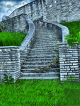 Stairs at Old Fort Sneakpeak by MadameM-stock
