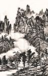 chinese ink landscape painting by zeamays37