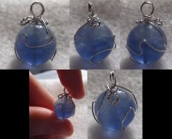 Silver-Wrapped Blue Materia by wickedorin