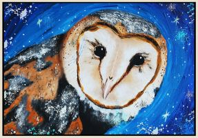 The Nightguardsman- Barn owl by TaraRW