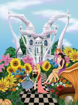 The Garden of the Wonderland - Castle of Hearts by Rander-MT