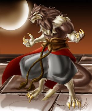 werewolf moon warrior art