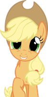 Applejack is Happy by MoongazePonies