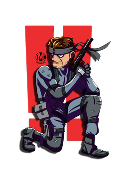 Sons of Liberty: Solid Snake by Samvangogh