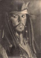 Johnny Depp as Jack Sparrow by AERuvalcaba