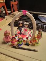 3D ORIGAMI AND 3D QUILLING WEDDING. by esmeraldaarribas