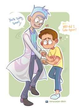 Blue pants Rick and Morty by Neny-Paradise