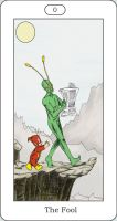 DC Tarot 0 The Fool by tractorman-chan