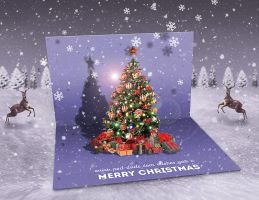 Christmas Pop Up Greeting Card by PsdDude