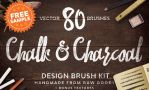 Free Chalk and Charcoal Vector Brushes by calwincalwin