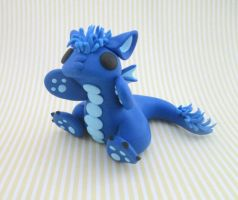Maned Blue Dragon by KriannaCrafts